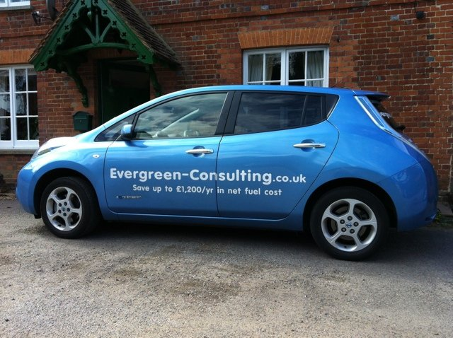 nissan leaf at Taybridge Towers