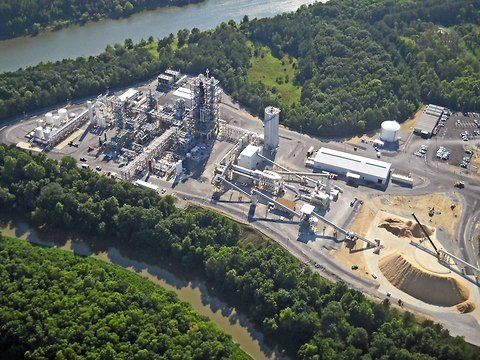 kiOR-wood chip fuel plant