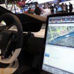 tesla-model-x at Detroit touchscreen