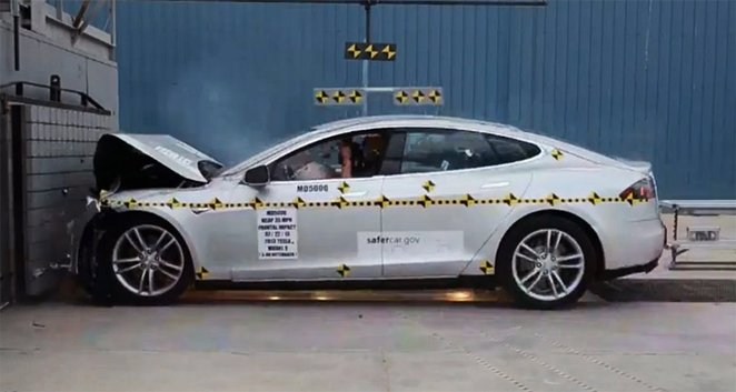 model s crash tested