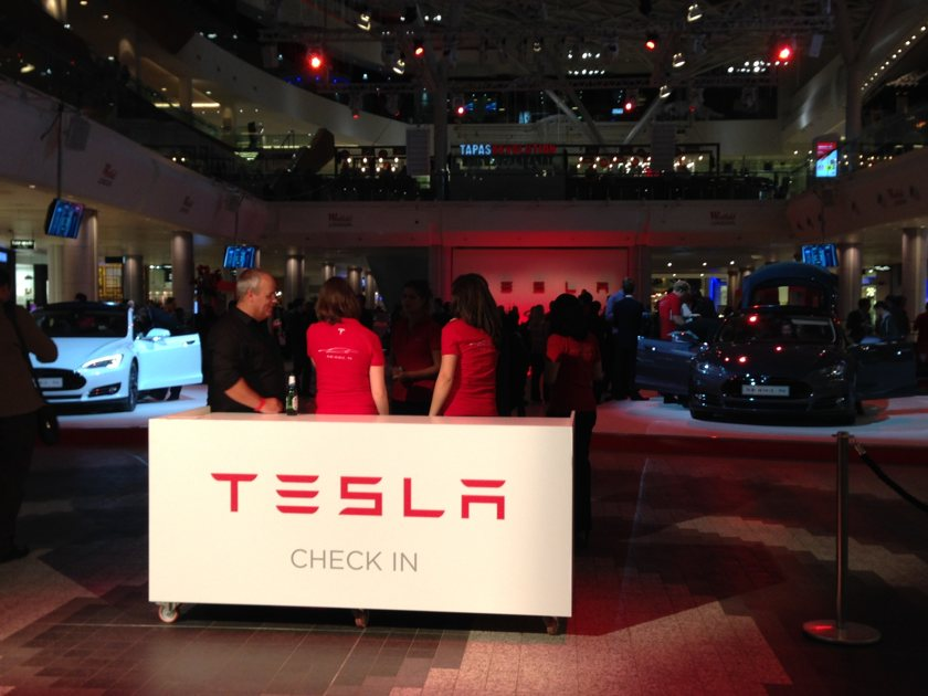 Tesla launch party