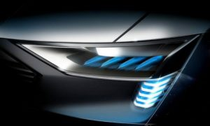 audi etron ev car lights