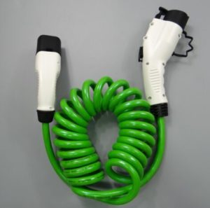 EV Green Spring cable Type1 - Type2
