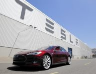 Tesla model s at factory
