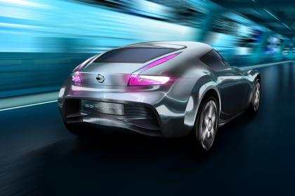 future nissan EV sports car rear