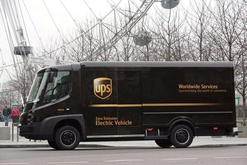 ups EV truck in London