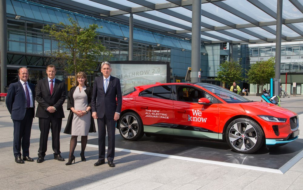 i-pace EV at heathrow